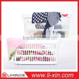 Plastic folding basket/Clothes basket/Stack storage basket/ family laundry/sundries basket