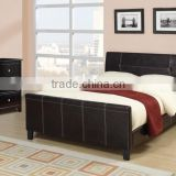 High Quality New Leather Platform Bed with Slats Full - Complete Bed ,(MB8001)Solid Wood Bed Room Furniture