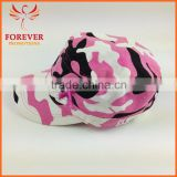 Chinese Supplier Pink Ribbon Embroidery Jean Camouflage Fabic Baseball Cap