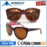 Latest 2015 china manufacture beautiful lady acetate sun glasses for women
