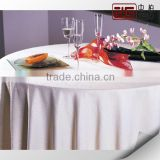 High Grade Restaurant Used Plain Fabric Round Wholesale White Linen Tablecloth