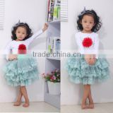Children Clothing! Whosales Children's Clothing set, Fall Autumn Princess Long sleeve top skirt outfit