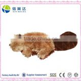 High quality Brown Beaver dog soft toy