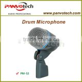 Panvotech PM-52 wired microphone / dynamic wired microphone/ drum microphone