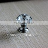 Crystal glass knob for furniture drawer handle