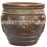 Garden planters Big Black clay pot wholesale Cheap