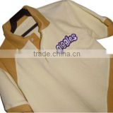 custom men's t shirt with contrast collar and cuff with embroidered logo blank polo shirt for men
