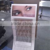 Custom pop eyelash packaging eyelash display stand/ Cosmetic wall display showcases design/ cosmetic display unit