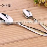 Graceful Gold Plated Handle Stainless Steel Cutlery Set - Dinner Knife Fork Spoon Teaspoon KX-S045