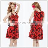 High quality beautiful pattern hot sale factory price casual style nice ladies dress