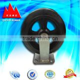 Double swivel brake rubber wheel caster,twin wheel castor