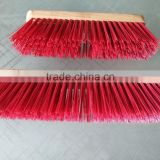 High Quality Cleaning Floor Brush With Long Wooden Handle Cheap Outdoor Pushbroom