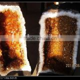 Wholesale natural Brazil citrine quartz crystal geode FengShui crystal for decoration