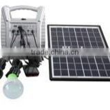 8w solar lighting kits with 2 LED lamps,phone charger 2014 new design hot sales portable for africa markets