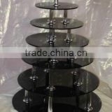 acrylic cake stand/cake display , multi tier cake display , wedding cake display , cake display stand . bakery display stand