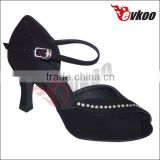 colors 7 all colors customized diamond sexy peep-toe dance shoes with satin/nubuck/pu material upper