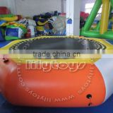 2016 Crazy inflatable trampoline rental, water air bouncer, inflatable water jumping trampoline