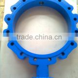 Center disc butterfly valve body