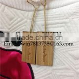 Handmade Clothing Engraved Wooden Bamboo Label High Spot Upscale Women's Clothing Generic Tag Personalized Bamboo Trademark