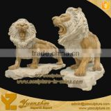 Decorative Marble lion Sculpture for garden decoration