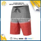 Modern 4 way stretch printed contrast color mens custom board shorts