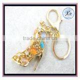 Crystal Shoe High Heel Keyring Rhinestone Purse Charm Pendant