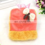 Free sample hand warmer hot water bottle cover with cute bow