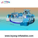 Commercial grade Frozen design with round swimming pool with slides for kids