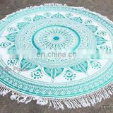 Wholesale Round Mandala Wall Hanging Beach Indian Round Mandala Table Cloth Beach Throw Hippie art Yoga Mat Towel Bohemian 72""