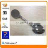 wholesale 11cm long oval cobblestone blank DIY stick logo souvenir nickel spoon