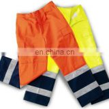 High visibility EN 20471 poly-cotton Hi-vis safety work pant reflective reflective tape work cheap pants