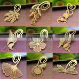custom metal bookmarks gold metal leaf bookmark butterfly ginkgo biloba clover bookmarks