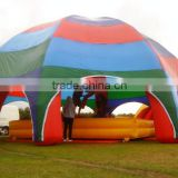 Inflatable garden umbrella tent inflatable bouncer stage tent for outdoor campping games