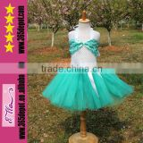 Free Shipping Wholesale Blue Girls Crochet Tulle Fluffy Tutu Skirt Birthday Tutu Dress For Kids