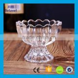 150ml Lotus shaped pudding cup glass ice cream bowl glass ice cream cup