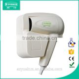 automatic electric plastic blower hair drier/ overheating protection hotel electric blower hair drier