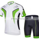 Cycling jersey Black Green outdoor road wear Close fitting short sleeve suit