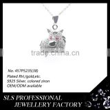 Wholesale designs donkey pendant 925 silver , rhodium plated necklace pendant for kids wear