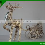 2014 New design christmas deer/ christmas decorations rattan deer