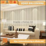Eco-Friendly Classic Stripe Style Style Top Quality Latest Design New Popular 3D Decorative Mural Wallpaper