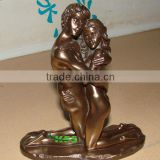 Bronze nude man and woman statue