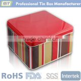 square large tin container for cookie package                                                                         Quality Choice