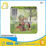 Factory direct sale melamine dinnerware square plastic trays                                                                                                         Supplier's Choice