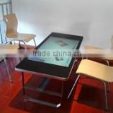 made in China with 40 points touch foil waterproof interactive table,interactive multi touch table