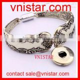 Vnistar interchangeable snap button bracelet bangle jewelry with magnetic closure wholesale VSB135