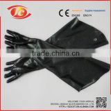 Factory directly provide different sizes long black gloves safety