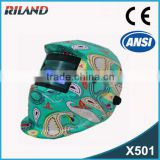 Riland 2015 New Decals Electronic Auto Darkening Safety Welding Face Mask UV/IR Protection