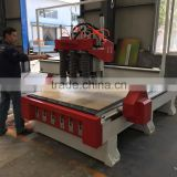 Wooden door manufacturing machines CNC Router vacuum table with 3 HSD spindles 4.5kw for door engraving CNC Router