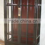 black glass two door cabinet