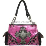 Cowgirl Western Leather Studded Beaded Lady Rhinestone Shoulder Bag                                                                         Quality Choice